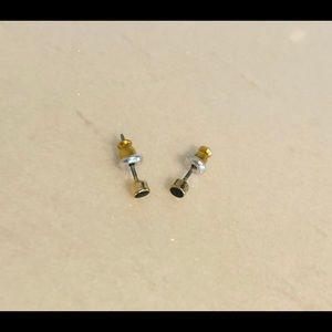 Free w/ purchase Tiny black and gold studs